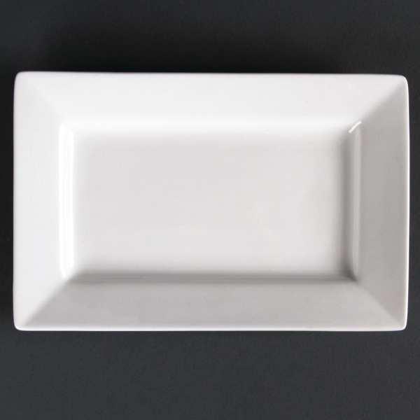 "Lumina Fine China Wide Rim Rectangular Plate - 200x130mm 7 3/4x5"" (Box 6)-0"
