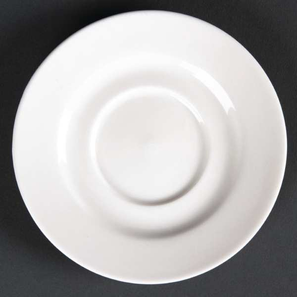 Lumina Fine China Round Saucer - 110mm for 4oz cup (Box 6)-0