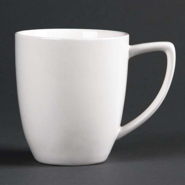 Lumina Fine China Latte Style Mug - 350ml 12oz (Box 6)-0
