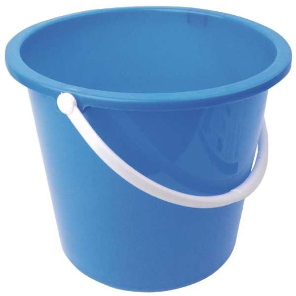Round Plastic Bucket Blue