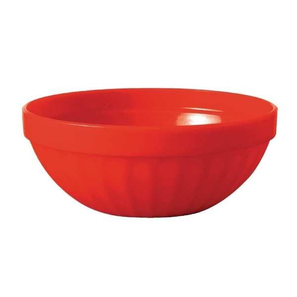 """Kristallon Polycarbonate Bowl Red - 190ml 6.7oz 102mm 4"""" (Box 12)-0"""