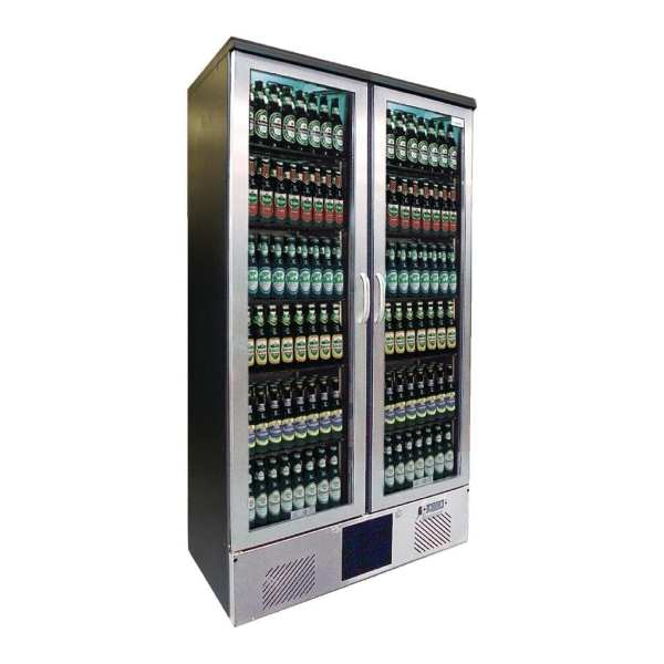 Gamko Upright Bottle Cooler Double Hinged Door St/St Front - 500Ltr (Direct)-0