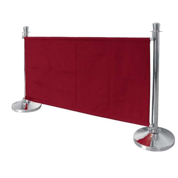 Bolero Red Banner with St/St Fixings-0