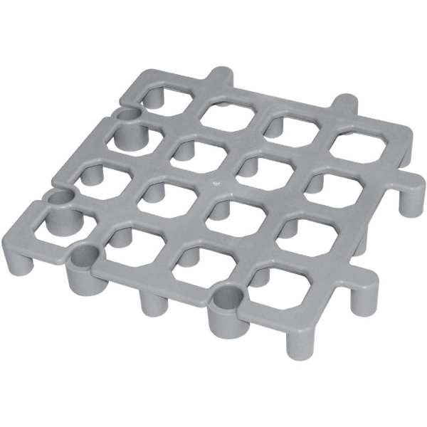 "Vogue Dunnage Floor Rack Grey Polypropylene - 335x335mm 13.25x13.25"" (Pack 2)-0"