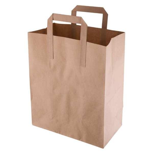 Recycled Brown Paper Bag Medium (Pack 250)-0