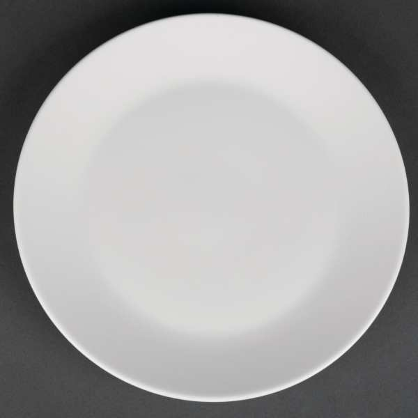 """Royal Porcelain Classic Coupe Plate White - 170mm 6.7"""" (Box 12)-0"""