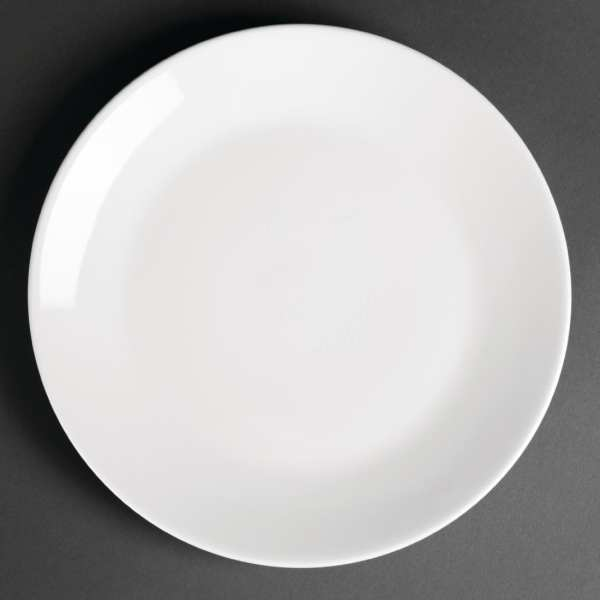 """Royal Porcelain Classic Coupe Plate White - 240mm 9 1/2"""" (Box 12)-0"""