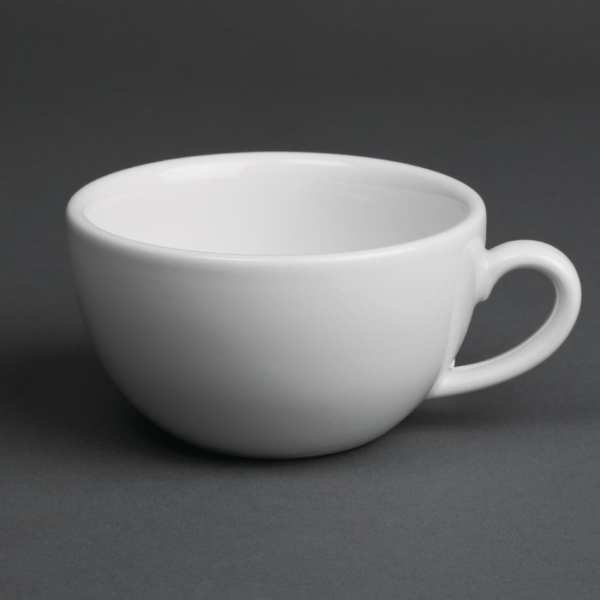 Royal Porcelain Classic Cappuccino Cup White - 7oz 200ml (Box 12)-0