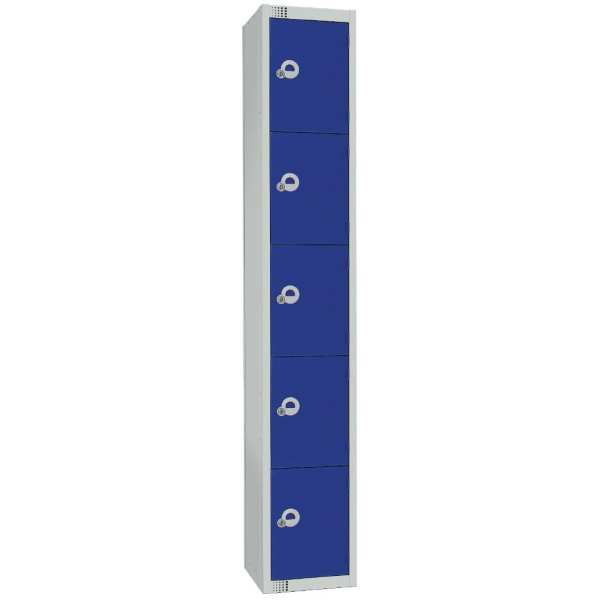 300mm Deep Locker 5 Door Camlock Blue (Direct)-0