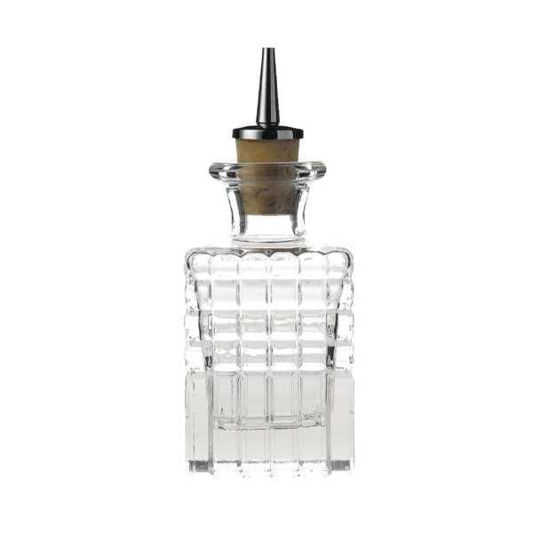 Square Dash Bottle - 10cl 3.5oz (Box 6)-0