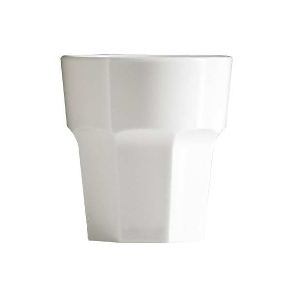 BBP Rocks Tumbler White Polycarbonate - 256ml 9oz (Box 36)-0