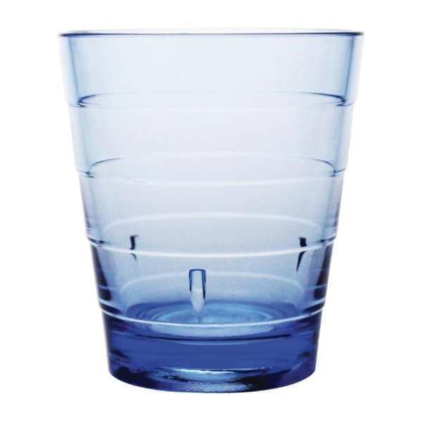 Kristallon Polycarbonate Ringed Tumbler - 285ml 10oz Blue (Box 6)-0