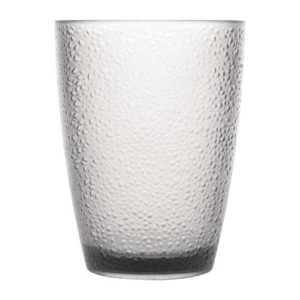 Kristallon Polycarbonate Frosted Tumbler - 275ml 9.75oz Clear (Box 6)-0
