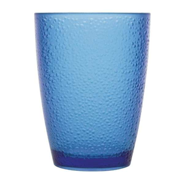 Kristallon Polycarbonate Frosted Tumbler - 275ml 9.75oz Blue (Box 6)-0