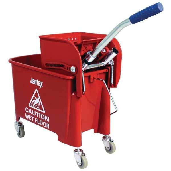 Mop Bucket & Wringer Red - 20Ltr