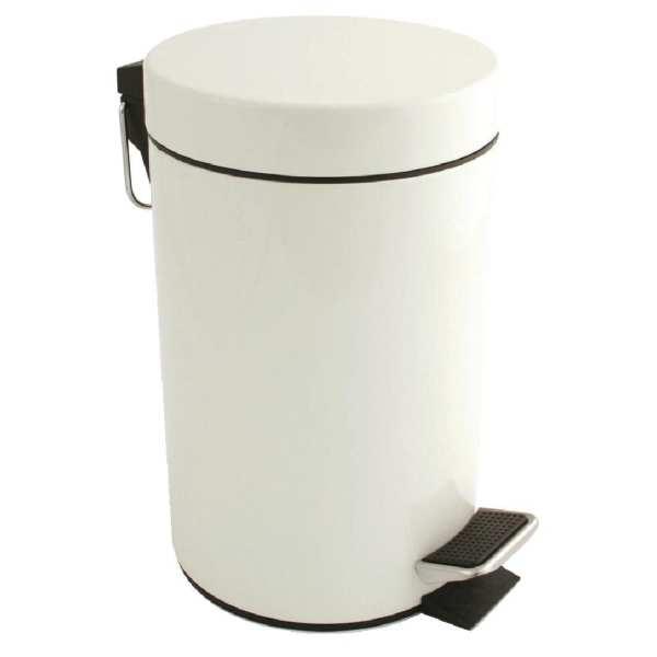 Bolero White Pedal Bin - 3Ltr-0