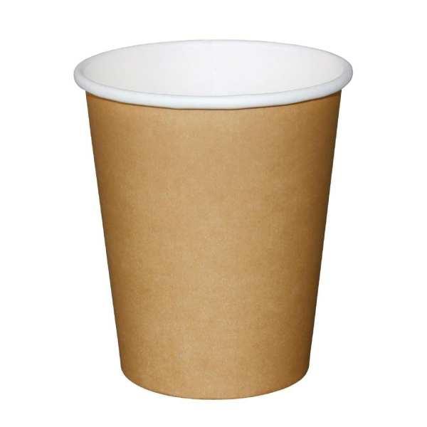 Fiesta Hot Cups Single Wall Kraft - 228ml (8oz) (Box 1000)-0