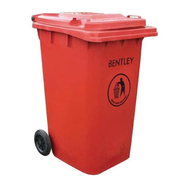 Wheelie Bin Red - 240Ltr (Direct)-0