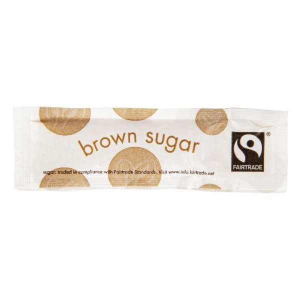 Vegware Fairtade Brown Sugar Sticks (Box 1000)-0