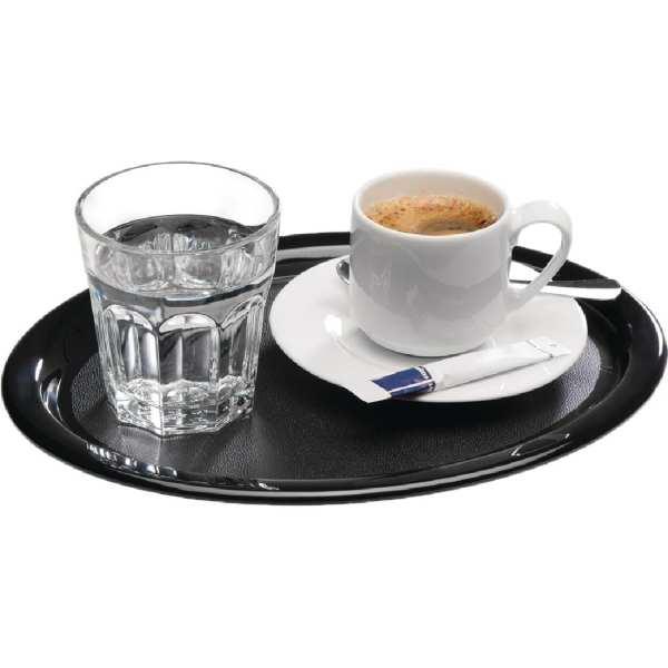APS Melamine Serving Tray Black - 285x215x15mm (B2B)-0