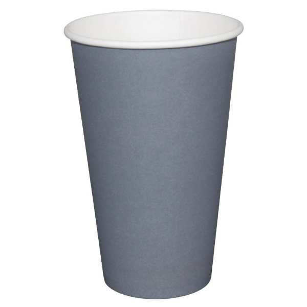 Fiesta Hot Cups Single Wall Charcoal - 228ml (8oz) (Box 1000)-0