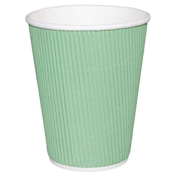 Fiesta Hot Cups Ripple Wall Aqua - 341ml (12oz) (Box 500)-0