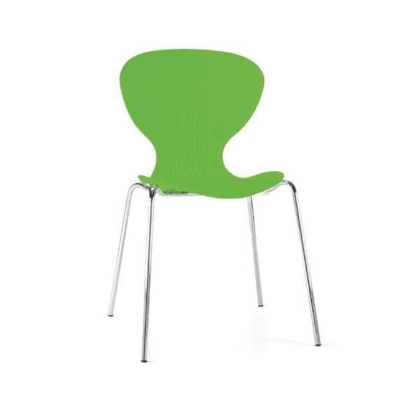 Bolero Stacking PP Sidechair (Bright Green) (Pack 4) (Direct)-0