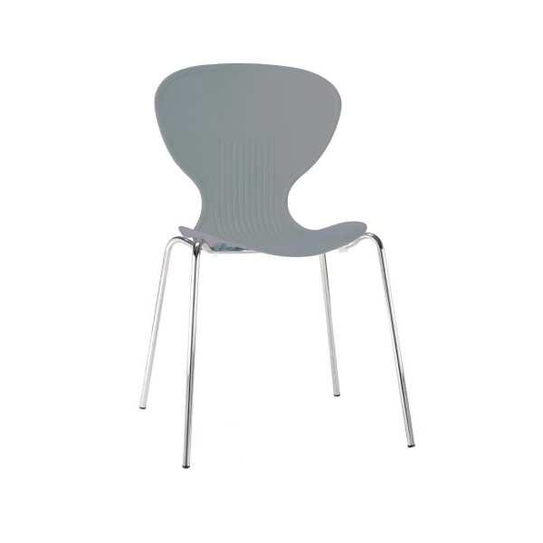 Bolero Stacking PP Sidechair (Grey) (Pack 4) (Direct)-0