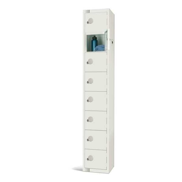300mm Deep Locker 8 Door Padlock White (Direct)-0