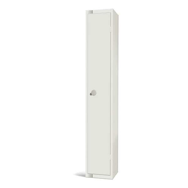 450mm Deep Locker 1 Door Padlock White - 1800x450x300mm (Direct)-0