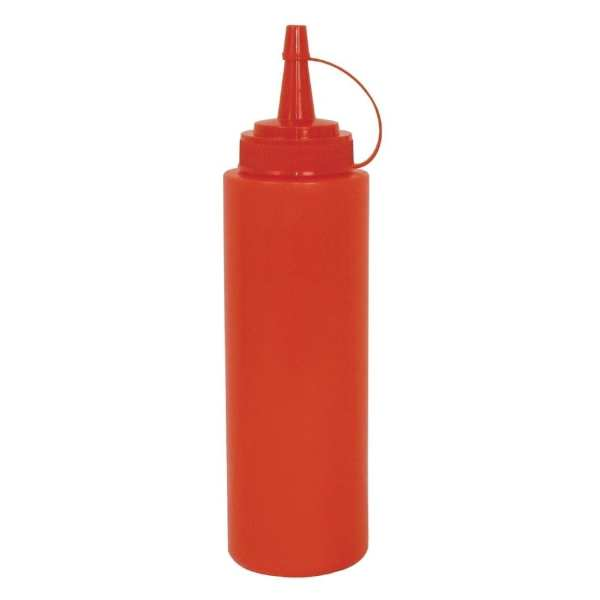 Vogue Squeeze Bottle Red - 8oz-0