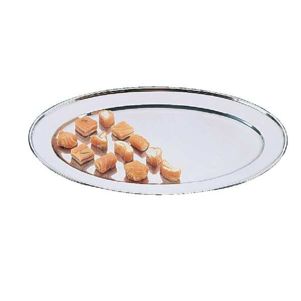 """Olympia Oval Serving Tray St/St - 254mm 10""""-0"""