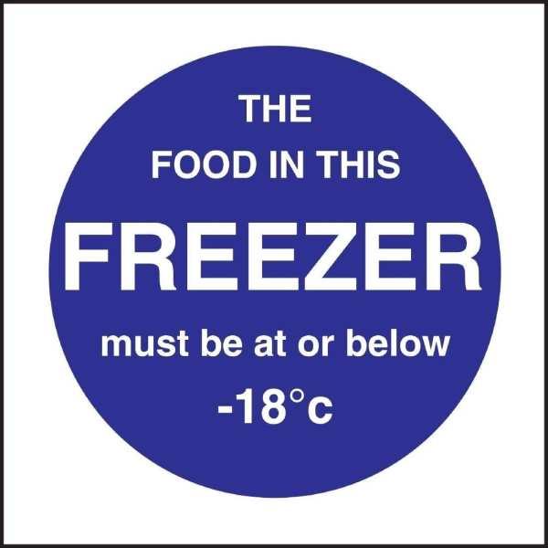 Freezer Temp Sign (Self-Adhesive)-0