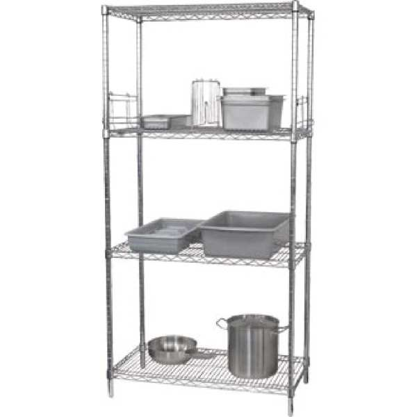 Vogue Flat Pack 4 Shelf Unit - 1220Wx460Dx1830mmH-0