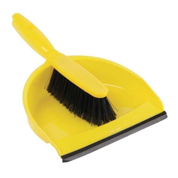 Soft Dustpan & Brush Set - Yellow