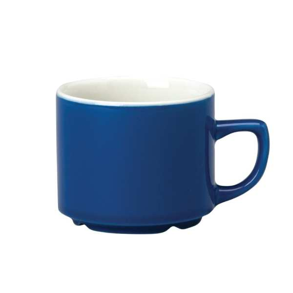 New Horizons Coloured Border Blue Maple Cup Solid - 7oz (Box 24) (Direct)-0
