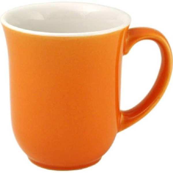 New Horizons Coloured Border Orange Elegant Mug Solid (Box 24) (Direct)-0