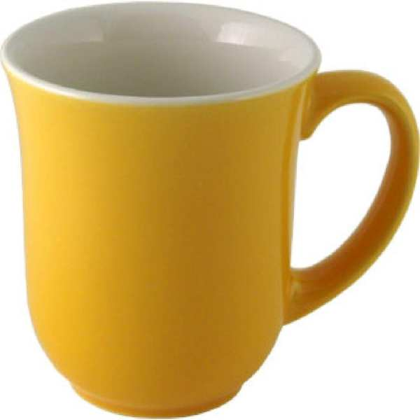 New Horizons Coloured Border Yellow Elegant Mug Solid (Box 24) (Direct)-0