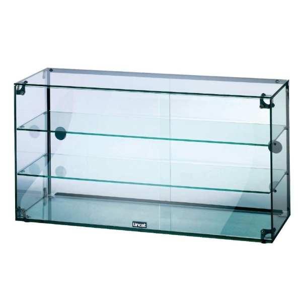 Lincat Seal Glass Cabinet (3 Tier & Doors) - 490Hx900Wx350D (Direct)-0