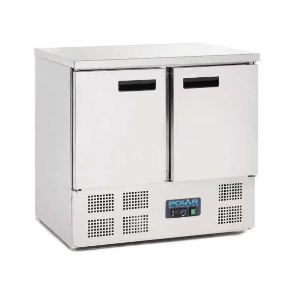 Polar 2 Door Flat St/St Top Counter (UK)-0