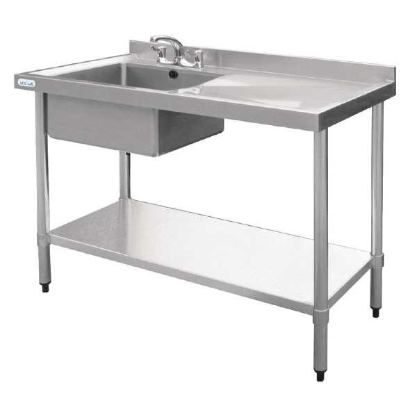 Vogue Single Bowl Sink R/H Drainer - 1200mm-0