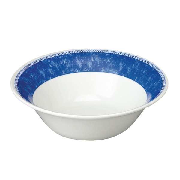 New Horizons Coloured Border Blue Medium Salad Bowl (Box 12) (Direct)-0