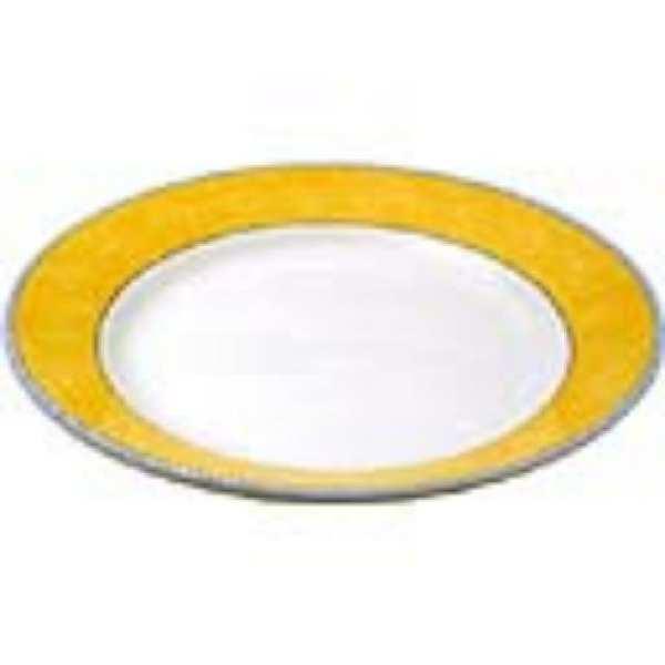 "New Horizons Coloured Border Yellow Mediterrean Dish 10"" (Box 12) (Direct)-0"