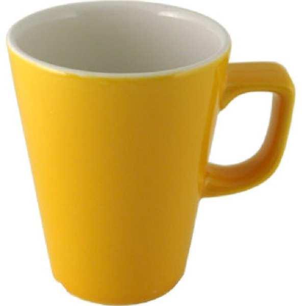 New Horizons Coloured Border Yellow Cafe Latte 12oz (Box 12) (Direct)-0
