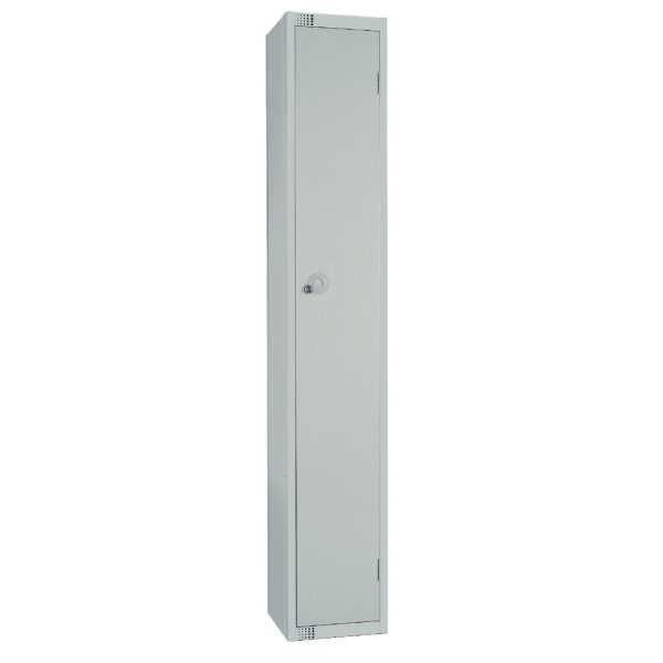 300mm Deep Locker 1 Door Padlock Mid Grey - 1800x300x300mm (Direct)-0