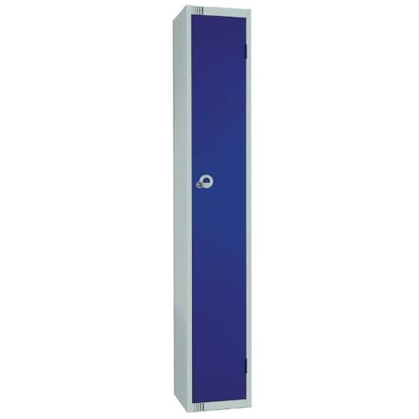 300mm Deep Locker 1 Door Padlock Blue with Sloping Top (Direct)-0