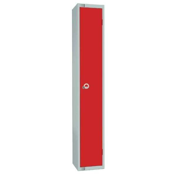 300mm Deep Locker 1 Door Padlock Red - 1800x300x300mm (Direct)-0