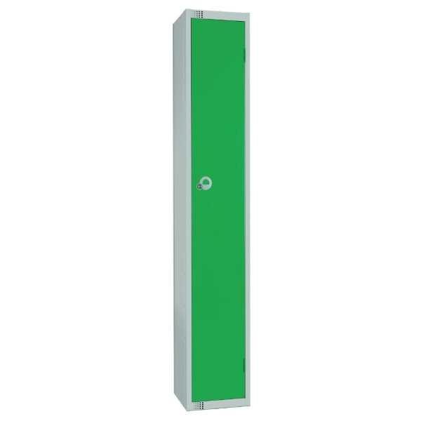 300mm Deep Locker 1 Door Camlock Green with Sloping Top (Direct)-0