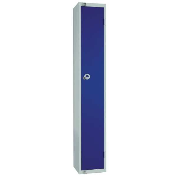 450mm Deep Locker 1 Door Camlock Blue with Sloping Top (Direct)-0