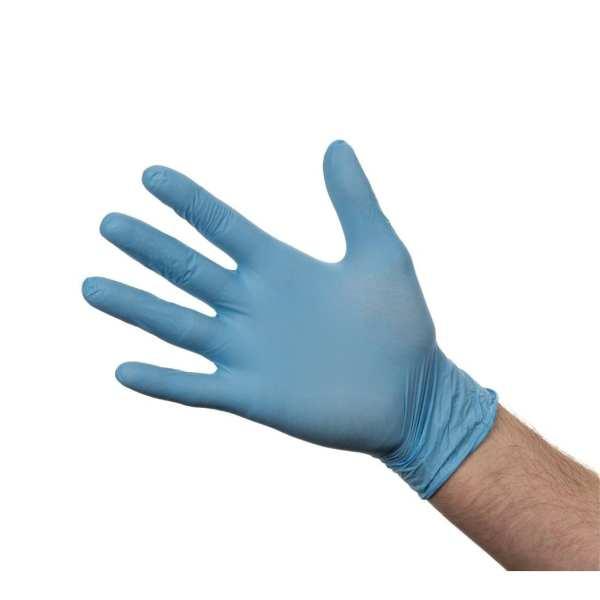 Nitrile Gloves - Powder Free Blue - Large - Box 100